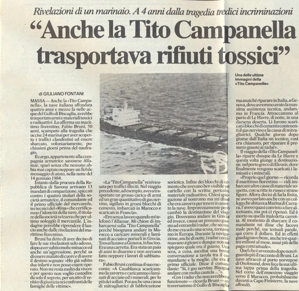 naufragio Tito Campanella