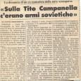 Chissa' mai se è stata fatta luce sulle ragioni alla base del naufragio del Tito Campanella, nel gennaio del 1984…. Chissa' mai se sono state […]