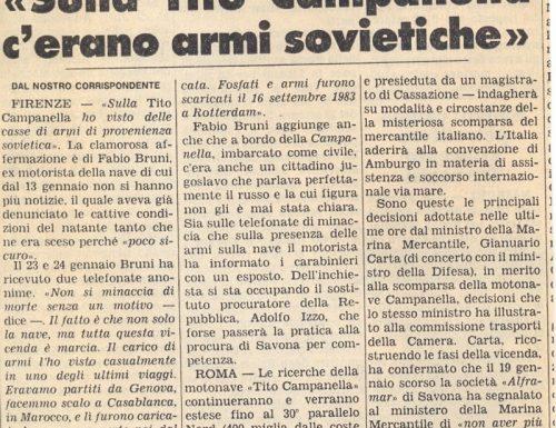 Naufragio del Tito Campanella: c'erano traffici illeciti ?