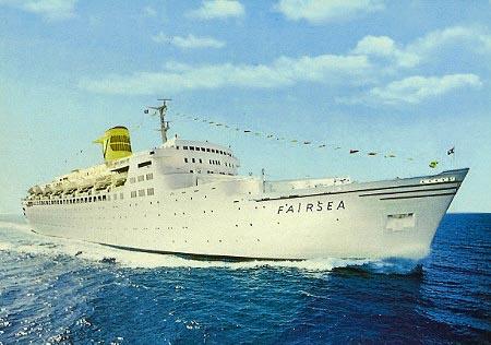 La nave da crociera Fairsea della Sitmar Cruises (the Sitmar experience)