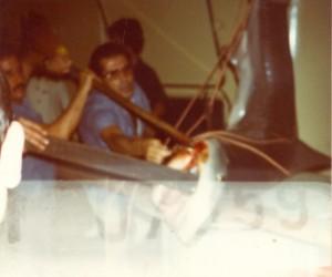 squalo pescato a Panama a bordo del Fairwind
