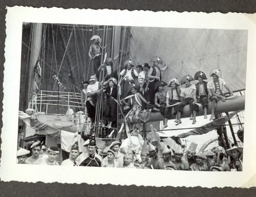 A bordo della nave scuola Amerigo Vespucci: la nave piu' bella del mondo
